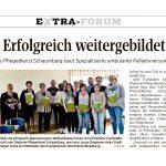 """Presseartikel """"Erfolgreich weitergebildet"""" - SAPV - Spezialisierte ambulante Palliativversorgung"""
